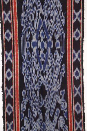 blue endek detail