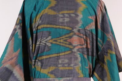 man's bathrobe detail