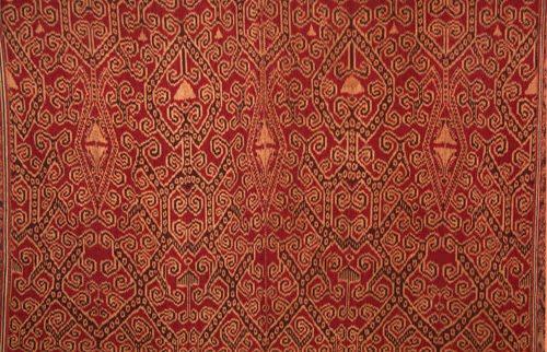 Pua Kombu ikat textile close up
