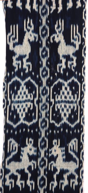 blue ikat detail
